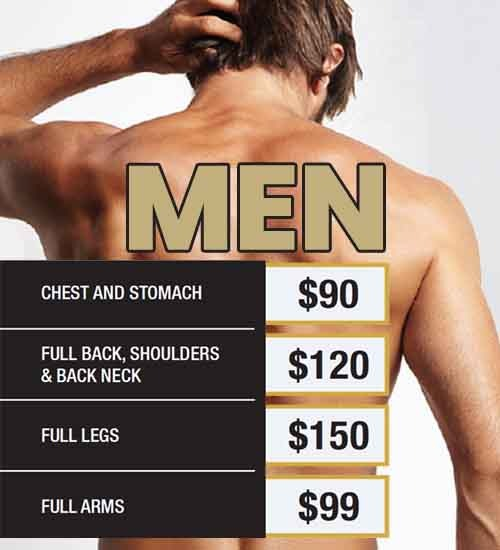 men hair removal price